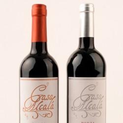 Diseño Etiquetas Vinos Casa Alcalá