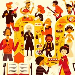 Ilustración publicitaria Catas con Arte
