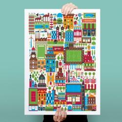 Downtown: Ilustración personal Cádiz