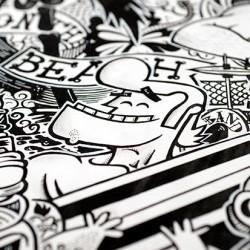 Surf'p: Ilustración Raúl Gómez Cádiz