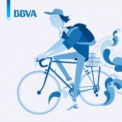 BBVA. Ilustración Corporativa para campaña de Blue Joven