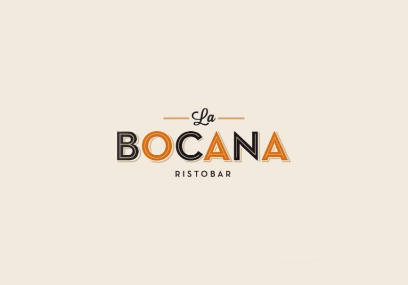 Logotipo Restaurante La Bocana. Cádiz