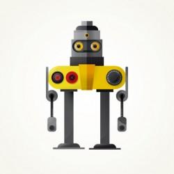 Robots ilustrado vectorialmente
