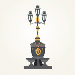 Detalle del plano ilustrado de Barcelona