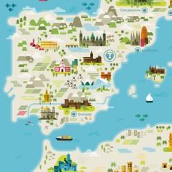 Plano Mediterráneo .ilustración. Cádiz