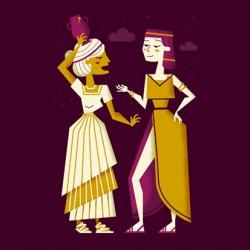 Ruta fenicia: Ilustración personajes