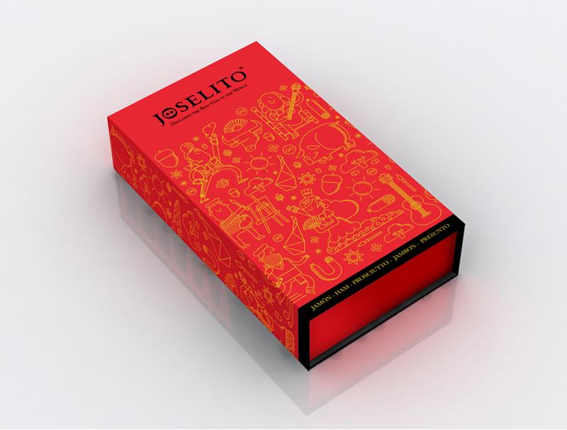 Jamones Joselito: Diseño e ilustración para Packaging de Jamones Joselito