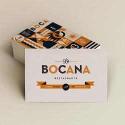 Tarjetas diseñadas para Restaurante La Bocana