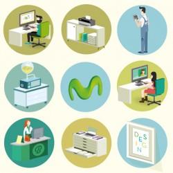 ilustración Movistar Fusión Empresas.