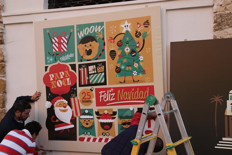 Montaje exposición Mercado de Cádiz