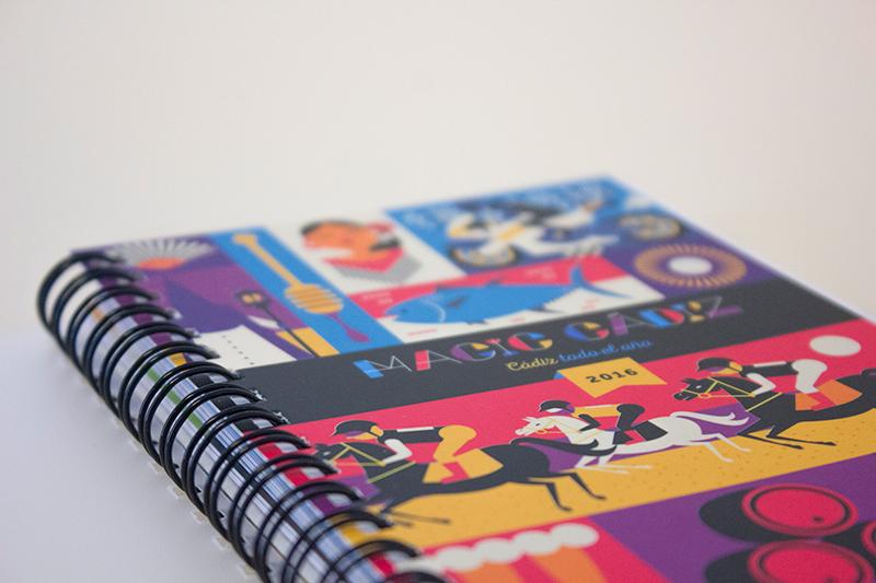 Magic Cádiz: Diseño e ilustración de agenda 2016 Cádiz