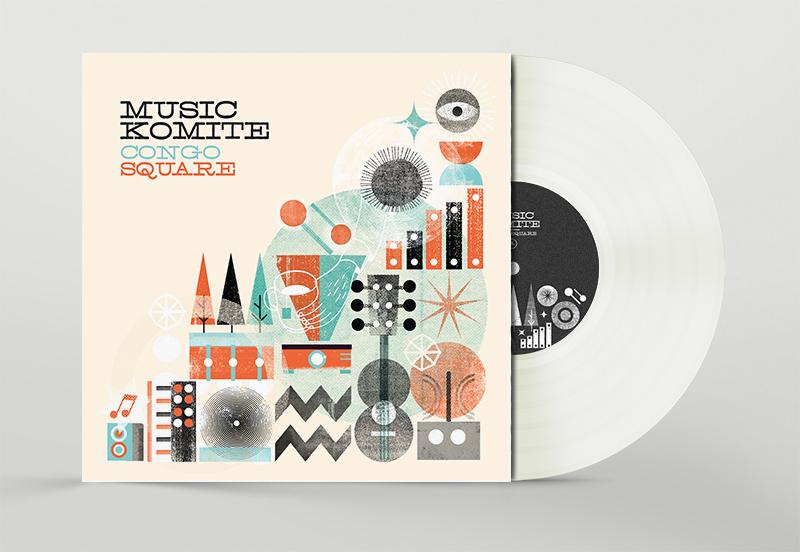 Vinilo del disco Congo Square de Music Komite